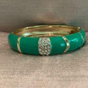 Sequin Green Enamel Bracelet- Medium Width